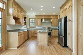 kitchen with wood cabinets what color hardwood floor with oak cabinets