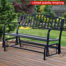 Garden Rocking Bench 2 Seater Glider Garden Seat Getestate Us