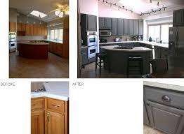 before after u003d kitchen quick fix golden oak cabinets grey