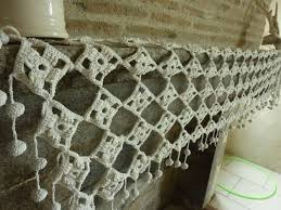 Crochet Valance Curtains 541 Best Crochet Curtains Bunting Images On Pinterest
