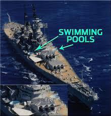 Bathtub Battleship This Us Navy Battleship Sported Two Swimming Pools