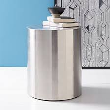 Drum Side Table Fancy Metal Drum Accent Table Metal Drum Side Table West Elm