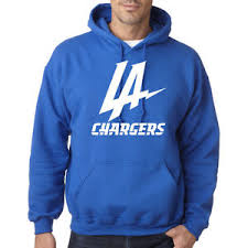 los angeles chargers graphic hoodie sweater chargers football new