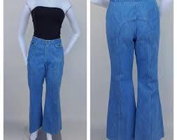 High Waist Bell Bottom Jeans Wrangler Bell Bottom Etsy