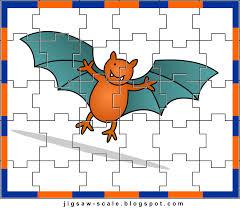 printable jigsaw puzzle for kids bat jigsaw