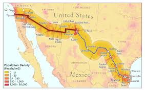 map usa mexico border border delegation being formed to influence washington big