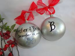 personalized ornaments wedding bridal ornaments wedding favors painted personalized