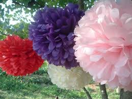 Hanging Party Decorations 10 Tissue Paper Pom Poms Wedding Decorations Bridal Shower