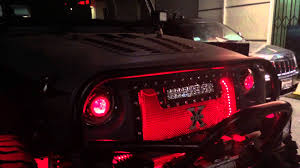 Led Lights For Jeeps Jeep Punisher Edition Ep 54 Red Led Lighting Kit Hid Head Lights