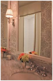 fabulous quadrille wallpaper guest bath idea by amy berry