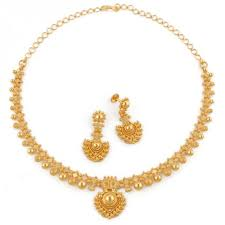 gold har set designer gold necklace set at rs 37451 sone ka har set