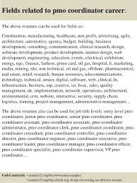 Pmo Cv Resume Sample Top 8 Pmo Coordinator Resume Samples