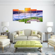 online get cheap contemporary wall decor aliexpress com alibaba 5 piece home decorative painting sunrise sea of clouds hd printed modern lanscape canvas art contemporary wall decor murals
