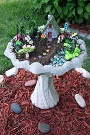 diy mini gardens fairy bath and bird