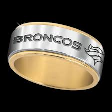 denver wedding band denver broncos spinner ring the danbury mint