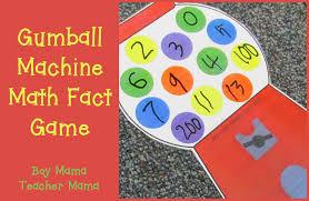 teacher mama gumball machine math facts game boy mama teacher mama