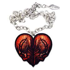 heart necklace red images Kreepsville 666 red skull heart necklace jpg