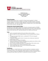 Health Education Resume Cover Letter Examples For Healthcare Jobs