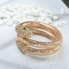 crystal snake bracelet images Gold snake bracelet mesh crystal coiled snake wrap bracelets jpg