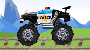 monster truck kids videos police monster truck police vehicles youtube