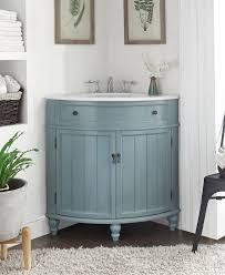 adelina 24 inch corner antique bathroom vanity light blue finish