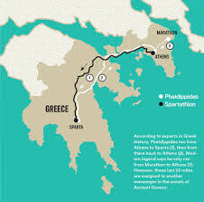 Blank Map Of Ancient Greece The Real Pheidippides Story Runner U0027s World