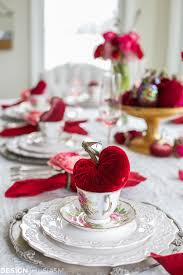 Valentines Day Decor Valentine U0027s Day Decorations Plush Velvet Hearts Tablescape
