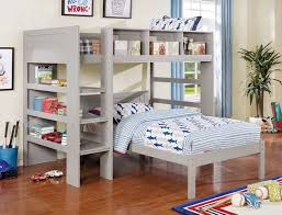 Loft Bed Set Furniture Of America Cm Bk965gy L T Annemarie Collection Gray