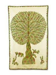 dyes tree of wall hanging setu fair trade