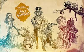 alice in wonderland walt disneys background wallpaper tim burton
