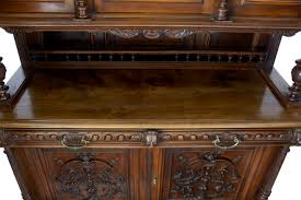 19th century flemish carved walnut buffet cabinet c 1880 belgium