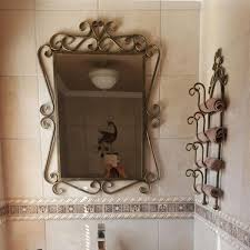 Wrought Iron Bathroom Furniture Endearing Wrought Iron Bathroom Accessories At Interior Home