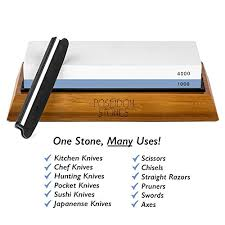amazon com sharpening stone set premium two sided 1000 4000