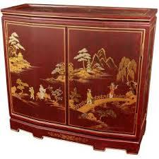 Oriental Credenza Oriental Furniture Walnut Korean Antique Style 3 Drawer Small