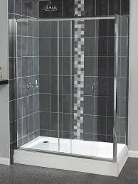 1200 Sliding Shower Door Shine Sliding Shower Door 1200mm Polished Silver