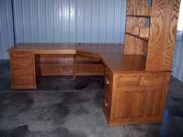 Solid Oak Corner Desk Woodloft Locally Amish Custom Crafted Rolltops Flat Tops