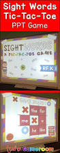 Room Dolch Word Games - practice sight words and play tic tac toe in the powerpoint game