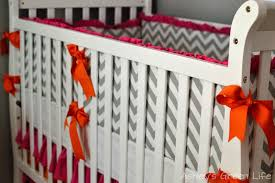 ashley u0027s green life baby mila u0027s grey pink u0026 orange nursery reveal