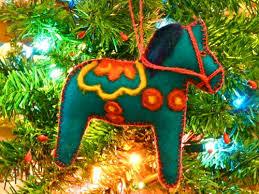 make a felted dala ornament gingerbread snowflakes