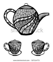 stylized teapot stock images royalty free images vectors
