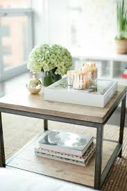 Coffee Tables With Shelves How To Style Coffee Table Trays Ideas Inspiration