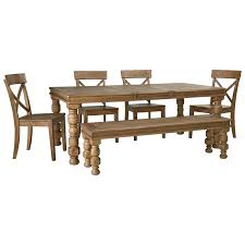 signature design by ashley trishley 6 piece solid pine dining