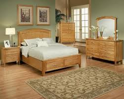 bedroom set in light oak finish firefly county by ayca ay 22 02set