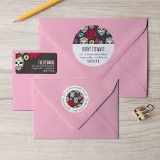 sugar skull return address labels