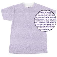 litographs the kite runner book t shirt