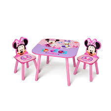 Kids Table And Chairs With Storage Minnie Mouse Table And Chair Delta Toys