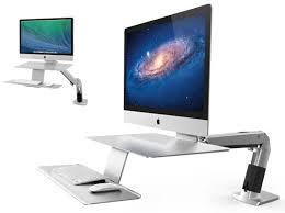 bureau pour imac 27 workfit macbook imac support en métal avec bras articulé rotatif