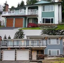 house renovation before and after exterior renovation vancouver coquitlam before after