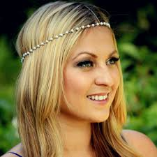 chain headband women metal rhinestone chain jewelry headband hair