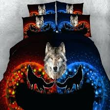 Wolf Bedding Set Wolf Bed Set Artsport Me